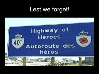 Lest we forget!