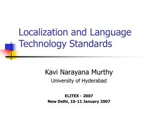 Localization and Language Technology Standards