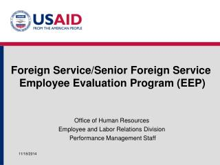Foreign Service/Senior Foreign Service  Employee Evaluation Program (EEP)