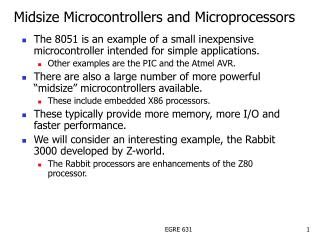 Midsize Microcontrollers and Microprocessors