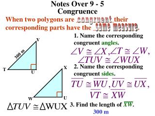 Notes Over 9 - 5                                Congruence