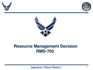 Resource Management Decision  RMD-703