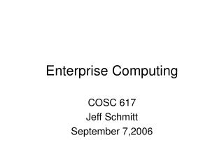 Enterprise Computing