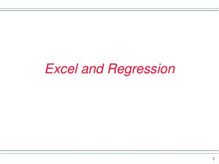 Excel and Regression