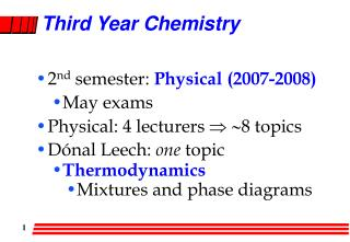 Third Year Chemistry