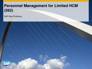 Personnel Management for Limited HCM (562)