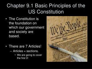 Chapter 9.1 Basic Principles of the US Constitution