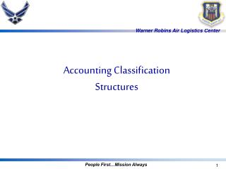 Accounting Classification Structures