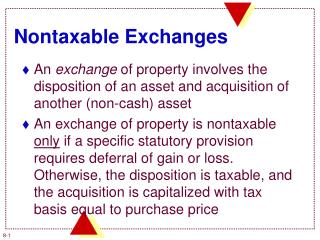 Nontaxable Exchanges