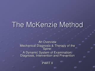 The McKenzie Method