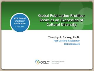 Global Publication Profiles: Books as an Expression of Cultural Diversity
