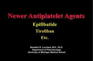 Newer Antiplatelet Agents