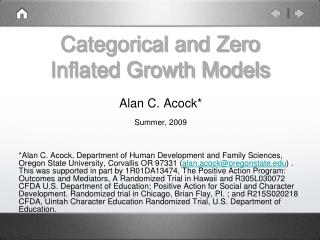 Categorical and Zero Inflated Growth Models
