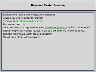Research Poster Creation