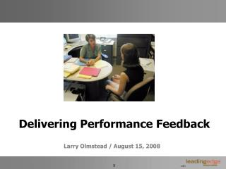 Delivering Performance Feedback
