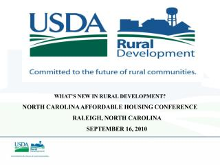 WHAT'S NEW IN RURAL DEVELOPMENT?