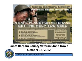 Santa Barbara County Veteran Stand Down October 13, 2012