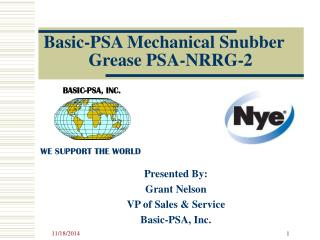 Basic-PSA Mechanical Snubber        Grease PSA-NRRG-2