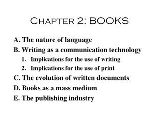 Chapter 2: BOOKS