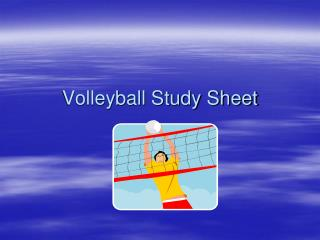 Volleyball Study Sheet