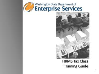 HRMS Tax Class Training Guide