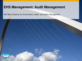 EHS Management: Audit Management