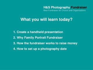 H&S Photography Fundraiser Best Fundraiser for Church and Organizations