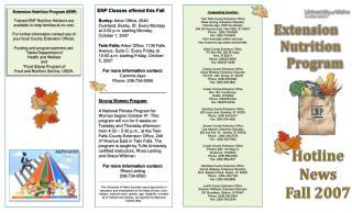 Extension   Nutrition     Program