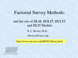 Factorial Survey Methods: