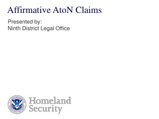 Affirmative AtoN Claims