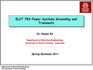 ELCT 752-Power Systems Grounding and Transients