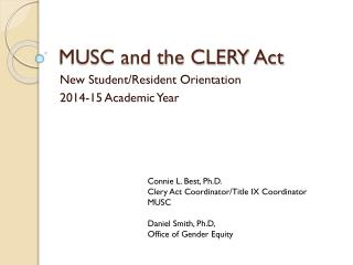 MUSC and the CLERY Act