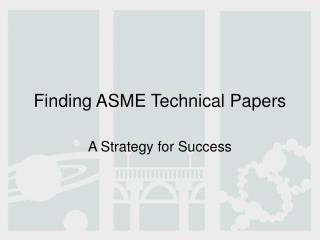 Finding ASME Technical Papers