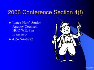 2006 Conference Section 4(f)