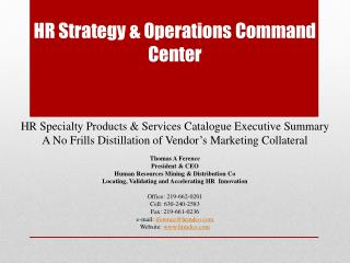 HR Strategy & Operations Command Center