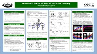A hierarchical neural network structure for text learning is obtained through self-organization