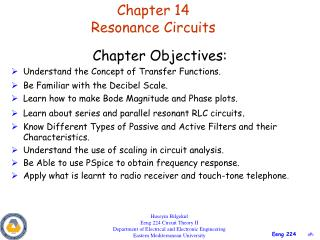 Chapter 14 Resonance Circuits