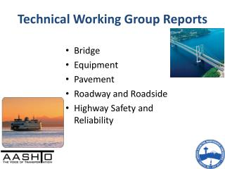 Technical Working Group Reports