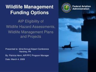 Wildlife Management Funding Options