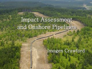 Impact Assessment and Onshore Pipelines Imogen Crawford