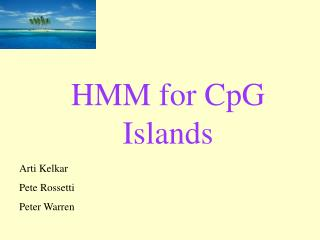 HMM for CpG Islands