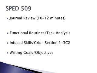 SPED 509