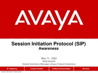 Session Initiation Protocol (SIP) Awareness