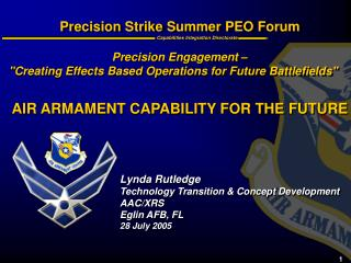 Precision Strike Summer PEO Forum
