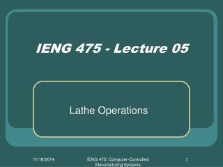 IENG 475 - Lecture 05