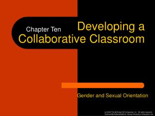 Developing a Collaborative Classroom
