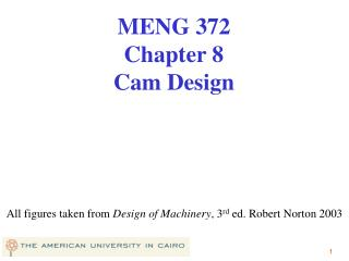 All figures taken from  Design of Machinery , 3 rd  ed. Robert Norton 2003