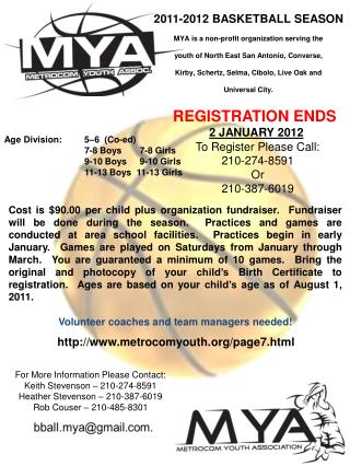 REGISTRATION ENDS 2 JANUARY 2012