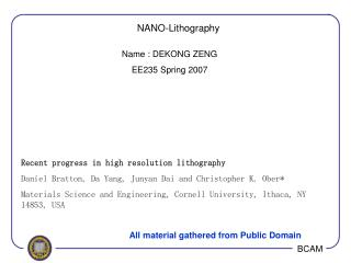 NANO-Lithography