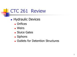 CTC 261  Review